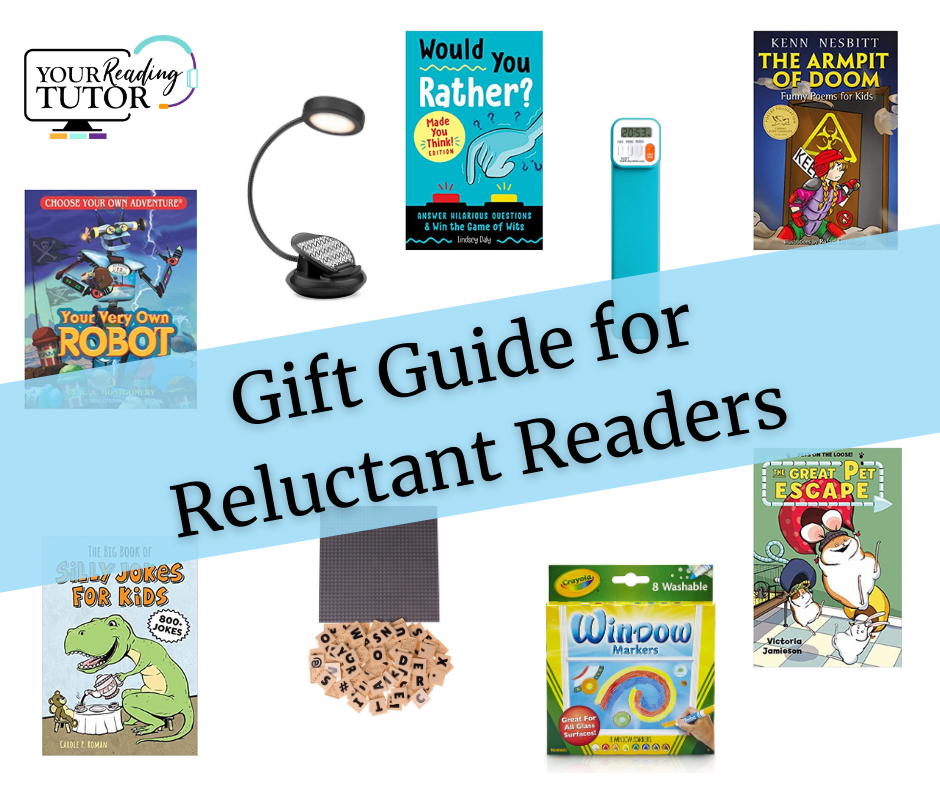 featured image for reluctant reader gift guide